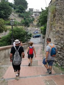 Il rientro a Salerno attraverso l'antigo borgo di canalone